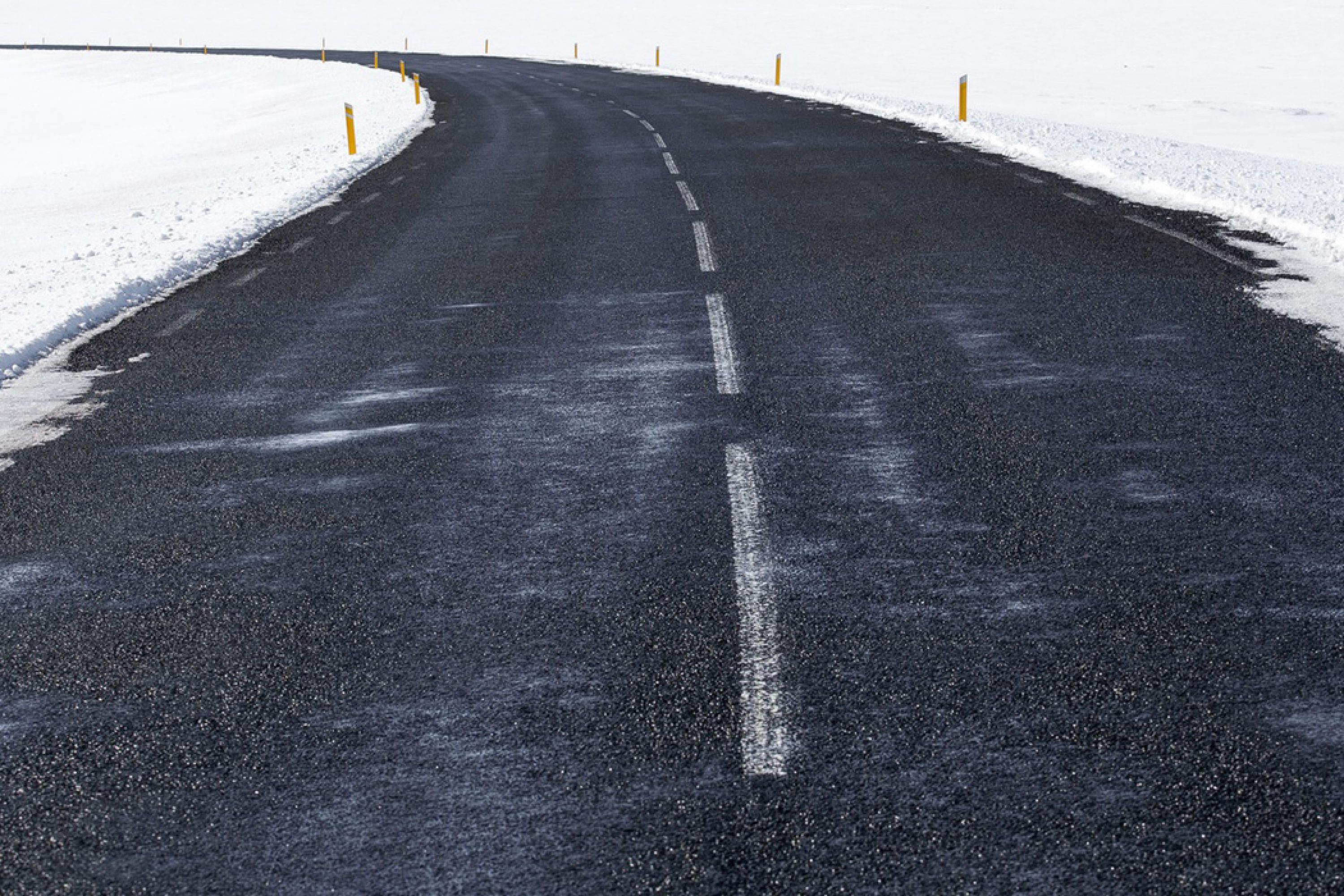 Icy roads are often more slippery