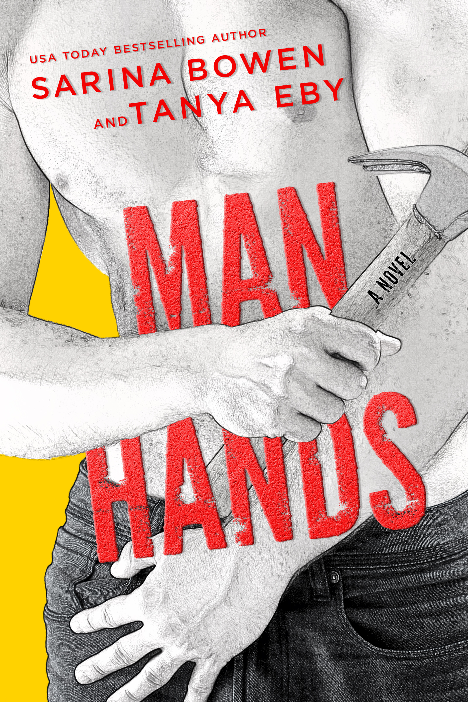 Cover Reveal – Man Hands by Sarina Bowen and Tanya Eby
