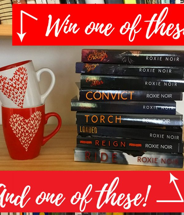 Win a heart mug and a signed paperback by Roxie Noir!