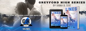 Cover Reveal: Lines by Anna B. Doe