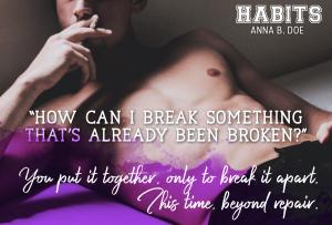 #TeaserTuesday: Habits by Anna B. Doe
