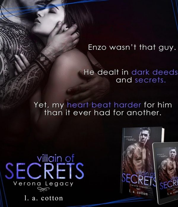 Teaser Reveal: Villain of Secrets by L. A. Cotton